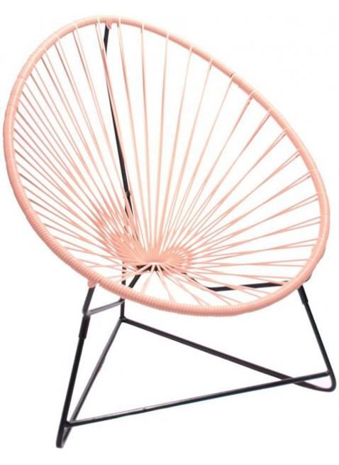 Boqa Acapulco Chair Chiquita Kinderstuhl Schwarz/Rosa - Kleine Fabriek