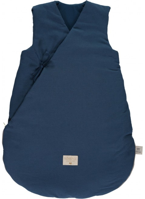 Nobodinoz Winter-Schlafsack Cloud 65 cm Honeycomb Night Blue - Kleine Fabriek
