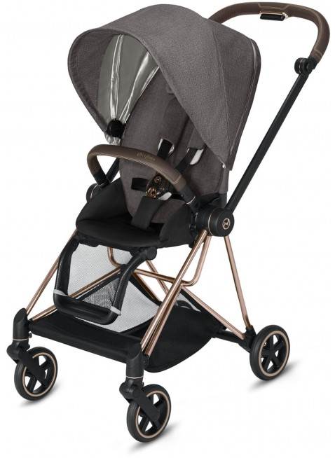 Mios Buggy Manhattan Grey Plus mit Gestell Rosegold - Kleine Fabriek