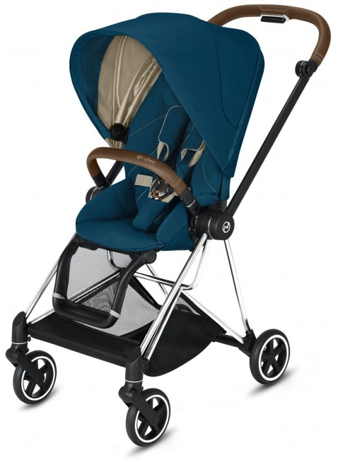 Mios Buggy Mountain Blue mit Gestell Chrome Braun - Kleine Fabriek