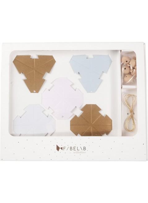 Fabelab Weihnachtsanhänger Baumschmuck Paper Stars DIY - Kleine Fabriek