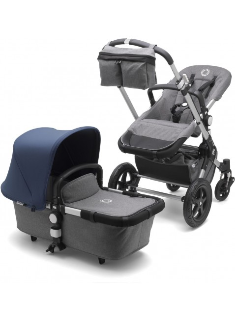 Bugaboo Cameleon 3 Fresh Collection Kinderwagen Set Silber/Grau Melange/Himmelblau - Kleine Fabriek