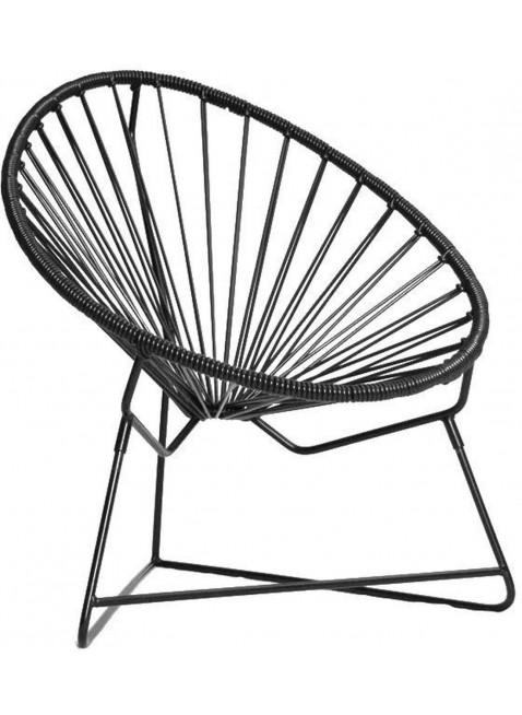 Boqa Acapulco Chair Chiquita Kinderstuhl Chinono Schwarz/Schwarz - Kleine Fabriek