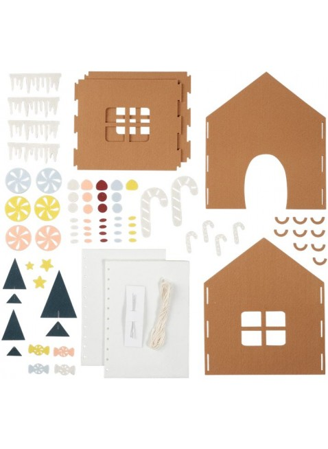 Fabelab Minimakers DIY Bastel-Set Filz Lebkuchenhaus - Kleine Fabriek