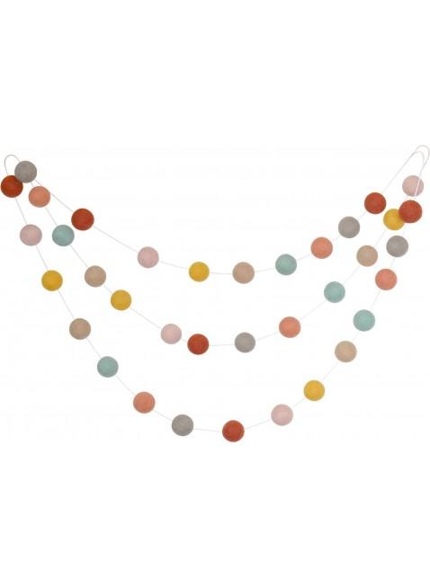 CALM for Dreamers Girlande mit Filzkugeln Terrakotta/Rosa/Ocker kaufen - Kleine Fabriek