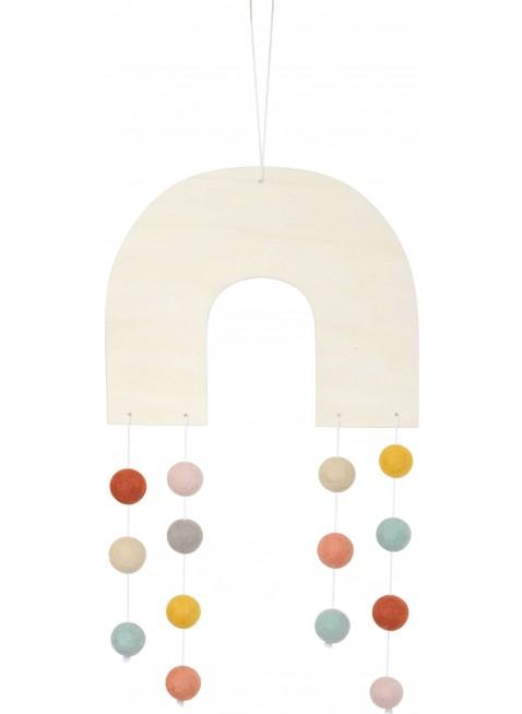 CALM for Dreamers Regenbogen Filz-Mobile Terrakotta/Blush/Taupe/Mustard kaufen - Kleine Fabriek