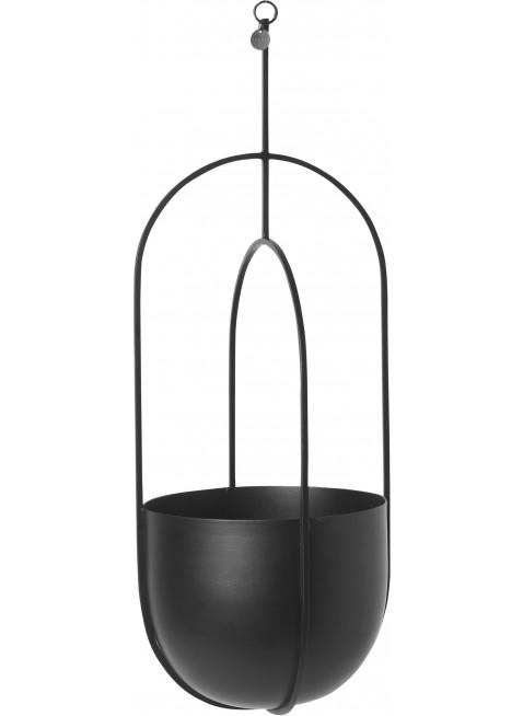 Ferm Living Hanging Deco Pot Blumentopf zum Aufhängen Schwarz - Kleine Fabriek