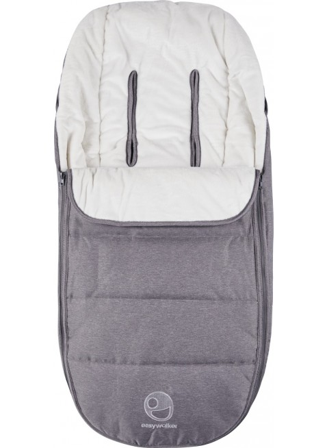 Easywalker Harvey Fußsack Steel Grey - Kleine Fabriek