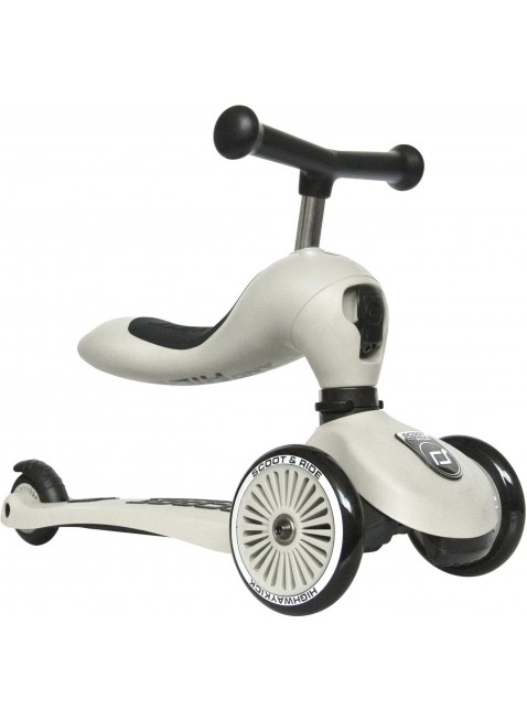 Highwaykick 1 Scoot & Ride 2in1 Laufrad Roller Ash - Kleine Fabriek