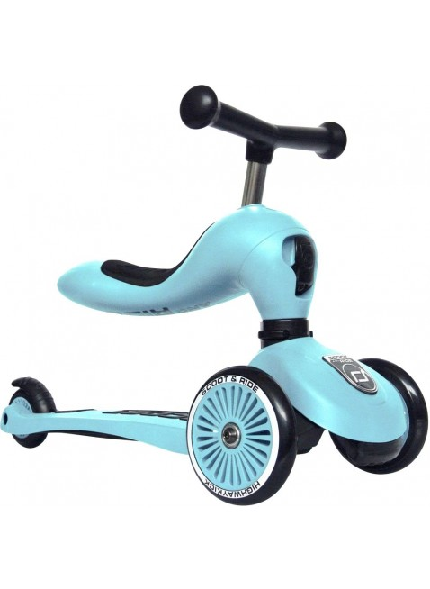 Highwaykick 1 Scoot & Ride 2in1 Laufrad Roller Blueberry - Kleine Fabriek