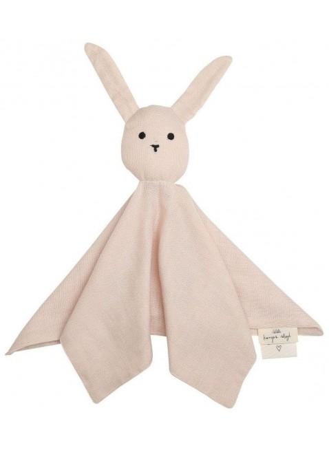 Schmusetuch Sleepy Rabbit Rose Dust von Konges Sløjd - Kleine Fabriek