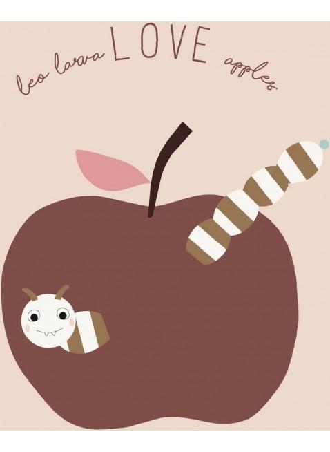 OYOY Poster Love Apples - Kleine Fabriek