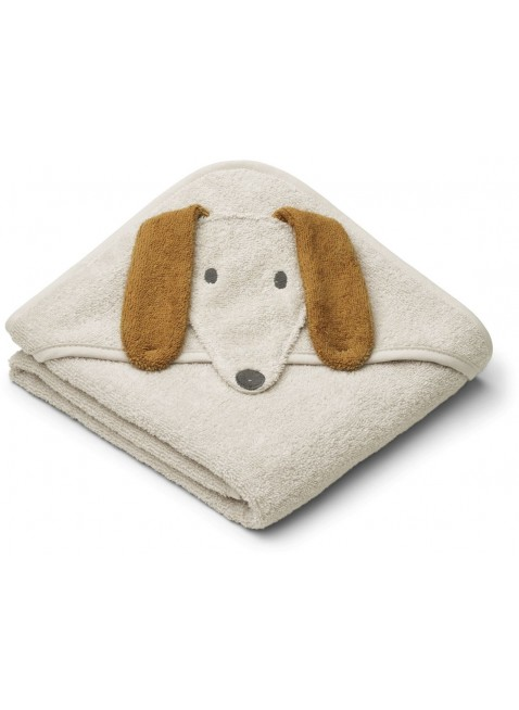 Liewood Baby Kapuzenbadetuch Albert Dog Sandy