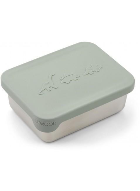 Liewood Edelstahl Lunchbox Frühstücksbox Ako Dino Dusty Mint