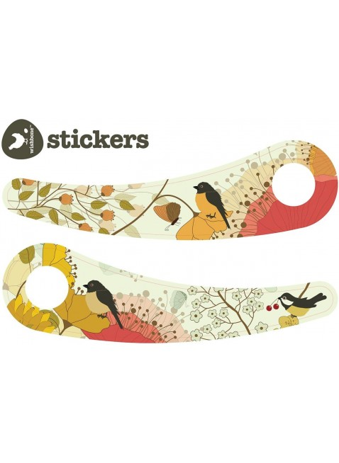 Wishbone Recycled Bike Sticker-Set Nature - Kleine Fabriek