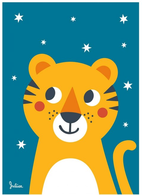 Julica Design Zookids Poster Tiger