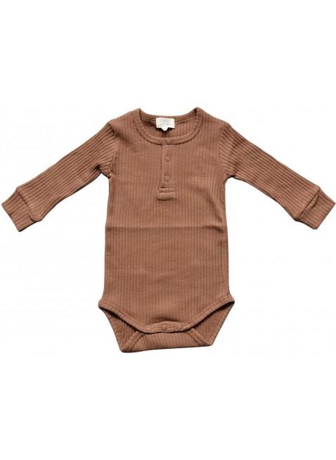 The Simple Folk Langarm Baby-Body Ribbed Cinnamon