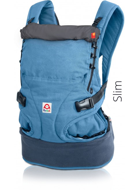 Ruckeli Babytrage Basic Slim Blue & Grey - Kleine Fabriek
