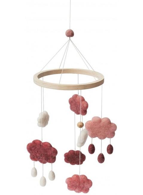 Sebra Filz-Mobile Wolken Pink kaufen - Kleine Fabriek