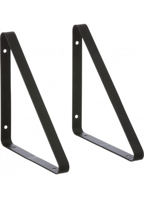 Ferm Living Regalhalterung Shelf Hangers Set Schwarz - Kleine Fabriek