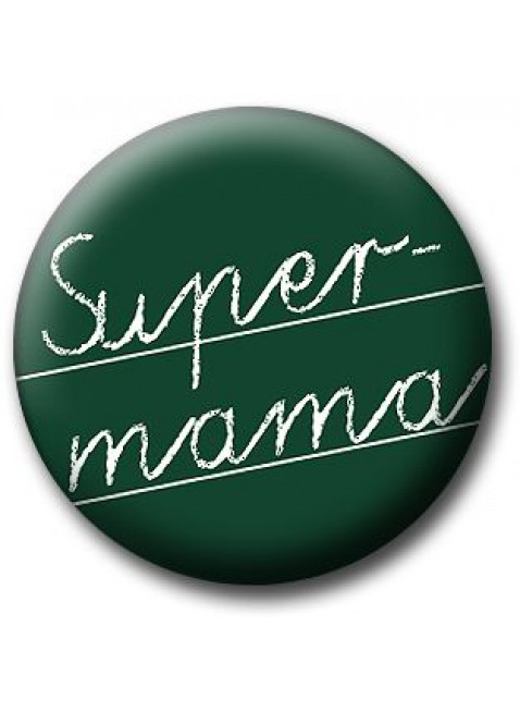 "Button ""Super-Mama"""