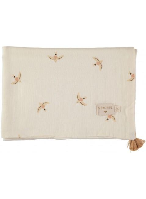 Nobodinoz Sommer-Decke Treasure 100x70 cm Nude Haiku Birds Natural