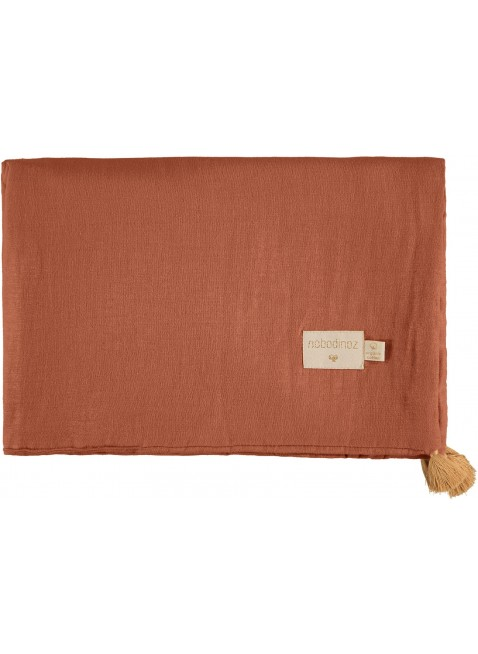 Nobodinoz Sommer-Decke Treasure 100x70 cm Toffee