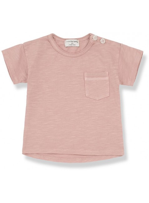 1+ in the family Baby-Shirt Kurzarm Vico Rose