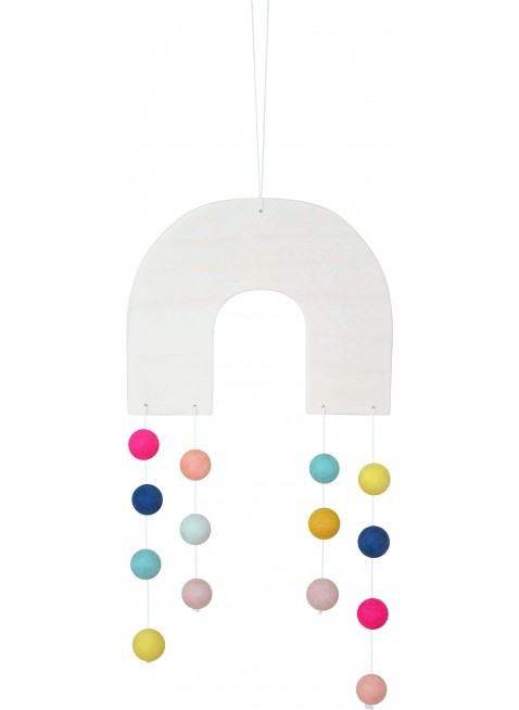 Regenbogen Filz-Mobile Bunt von CALM for Dreamers kaufen - Kleine Fabriek