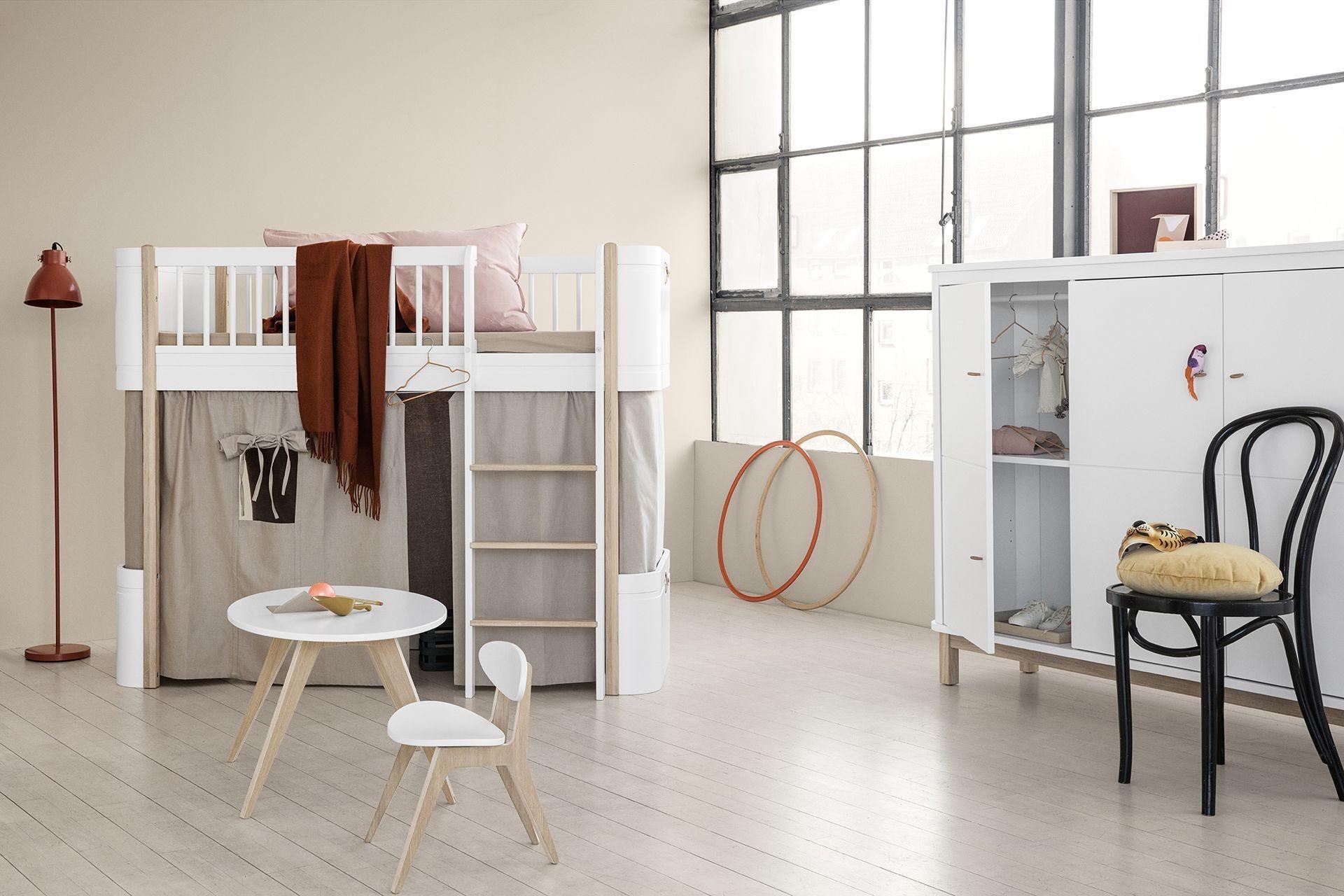 oliver furniture wood mini halbhohes hochbett weieiche kleine fabriek - Oliver Furniture Hochbett