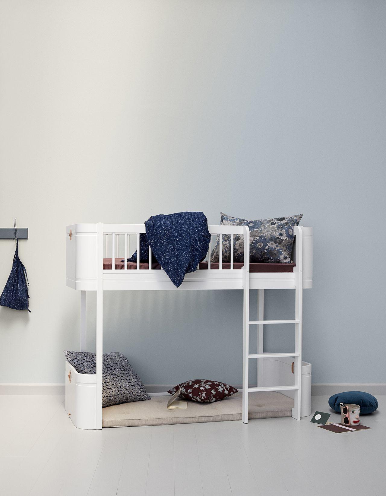 Lovely Tolles Dekoration Oliver Furniture Hochbett #13: Oliver Furniture Wood Mini+ Halbhohes Hochbett Weiß/Weiß - Kleine Fabriek  ...