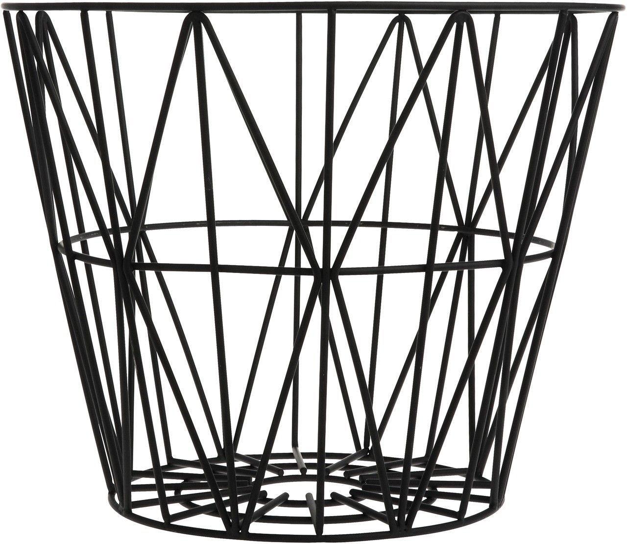 Wire Basket Schwarz Ferm Living - Kleine Fabriek