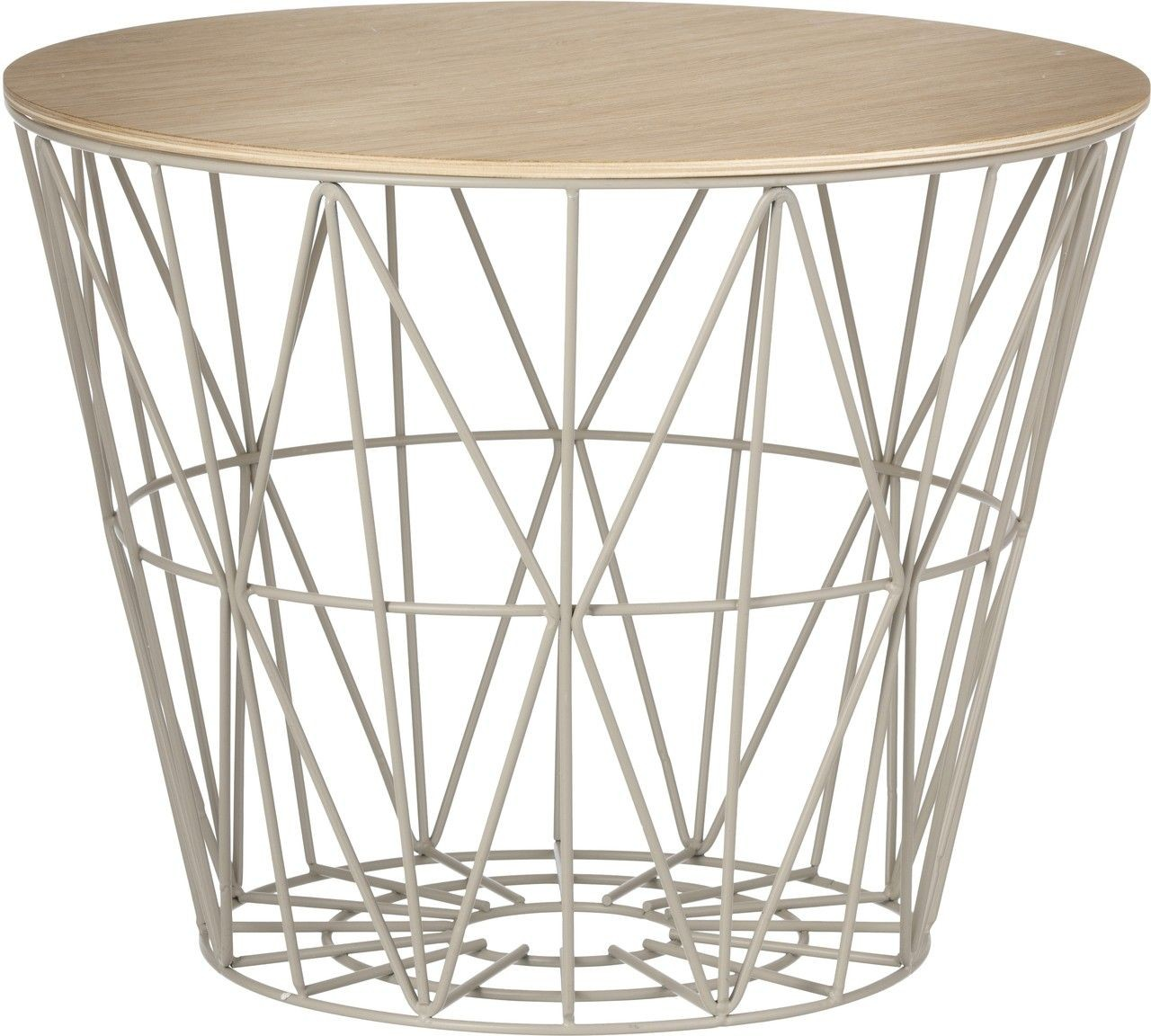 Ferm Living Wire Basket Deckel Eichenholz Hell ...