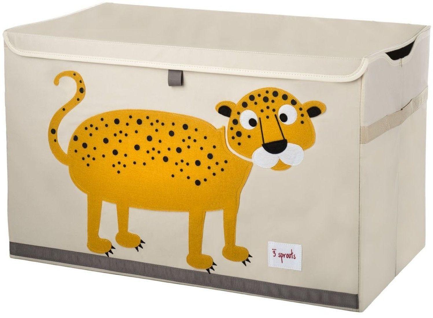 3 sprouts spielzeug kiste leopard kinderzimmerdeko kinderzimmer baby. Black Bedroom Furniture Sets. Home Design Ideas