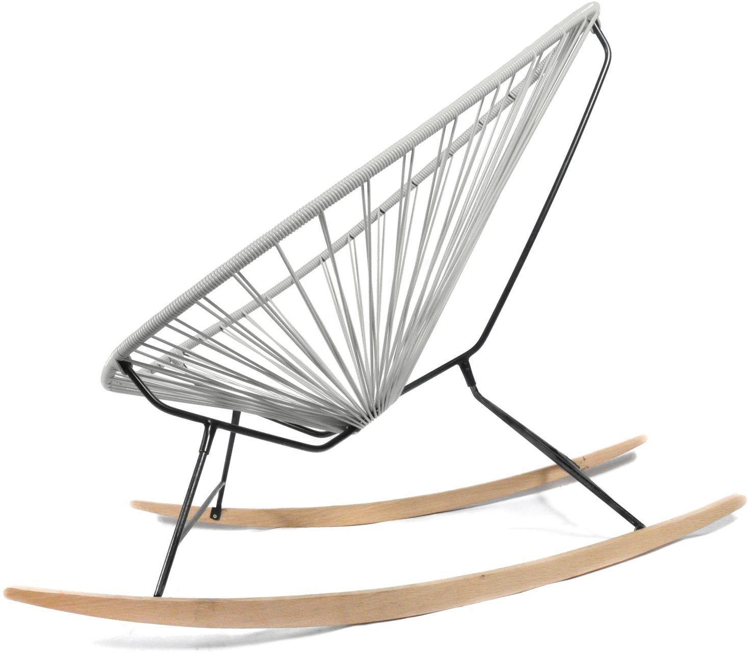 Acapulco chair wood rocker design schaukelstuhl boqa - Designer schaukelstuhl ...