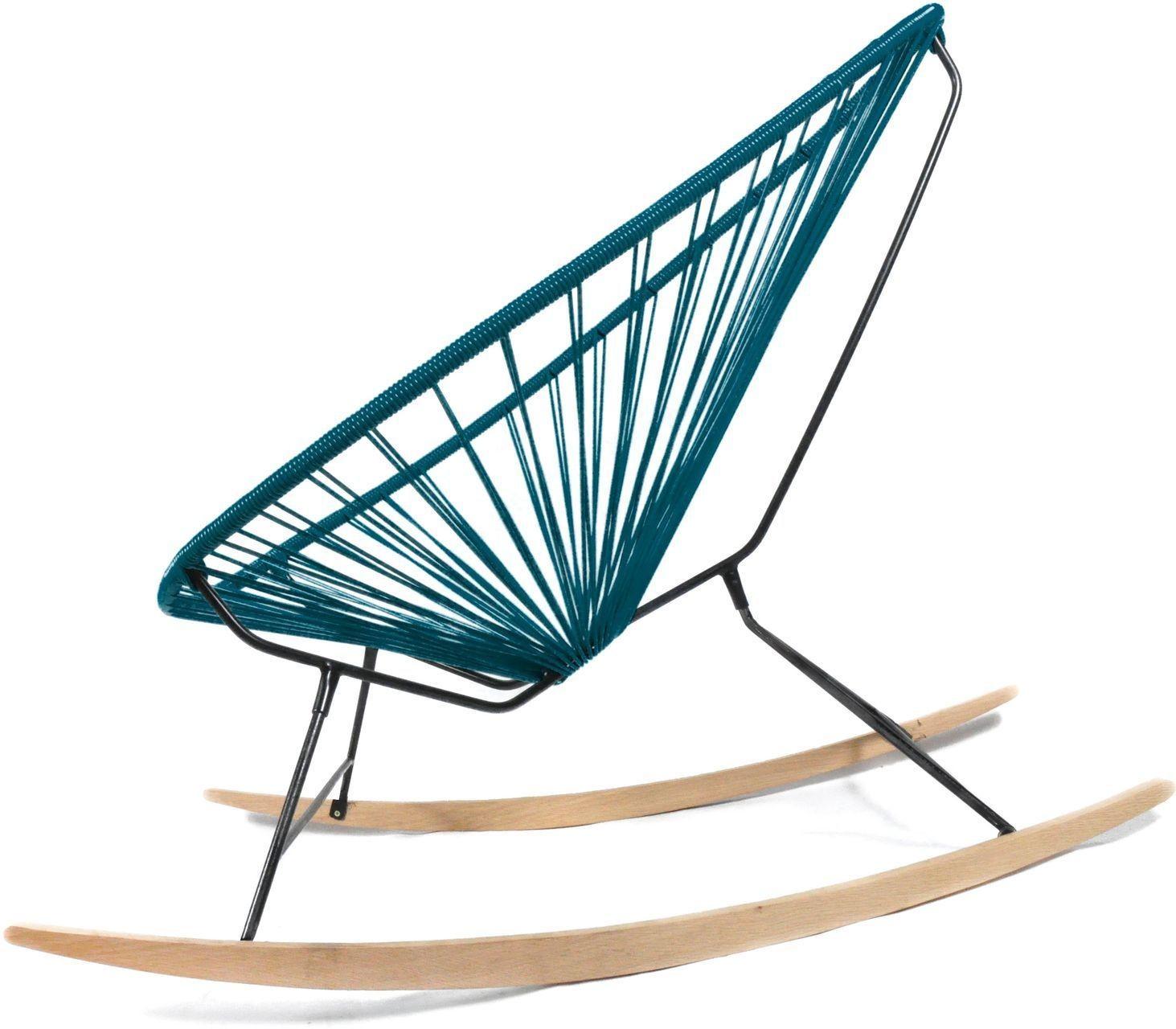 Acapulco chair wood rocker design schaukelstuhl boqa for Schaukelstuhl petrol