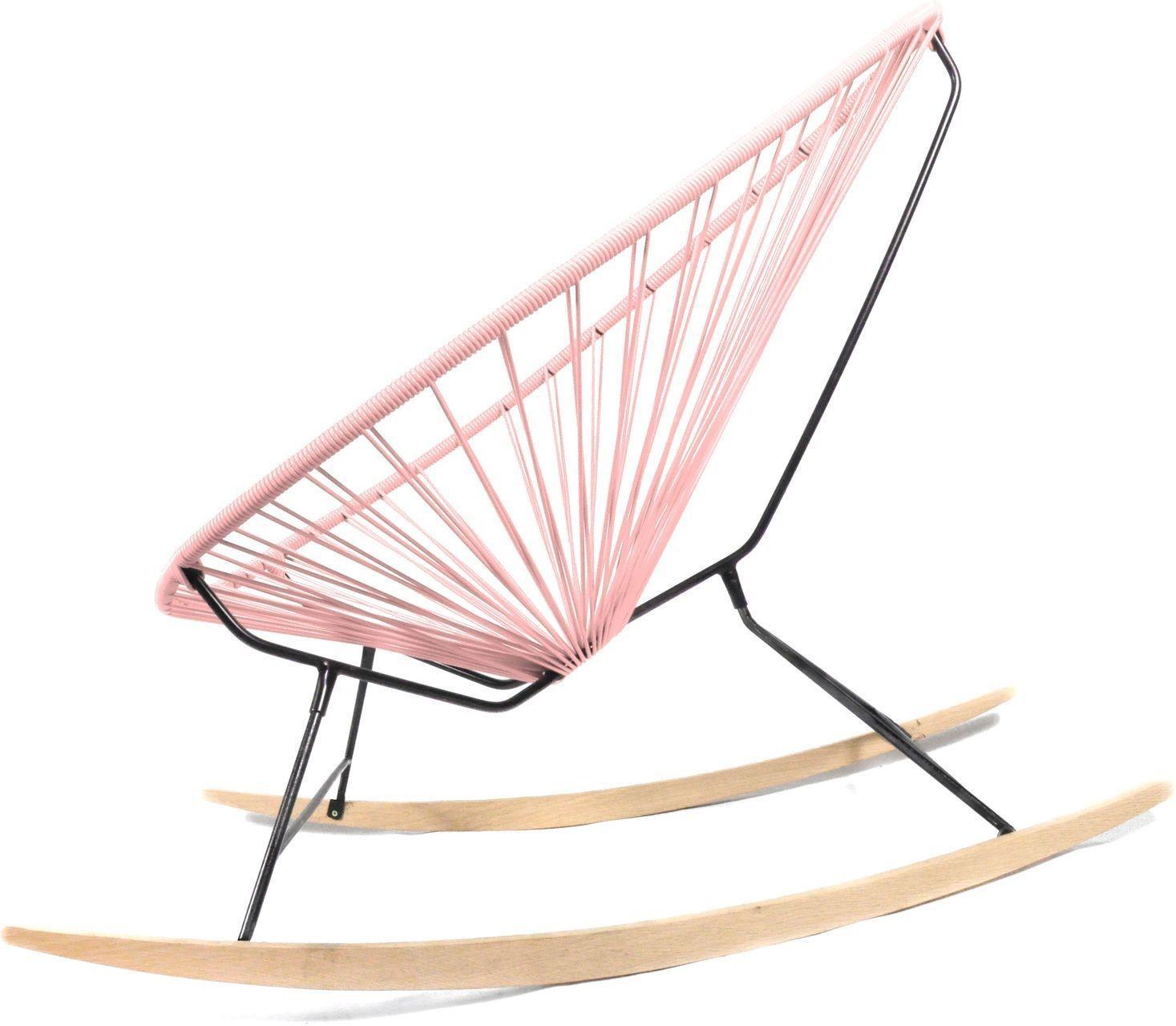 Acapulco chair wood rocker design schaukelstuhl boqa for Schaukelstuhl rosa