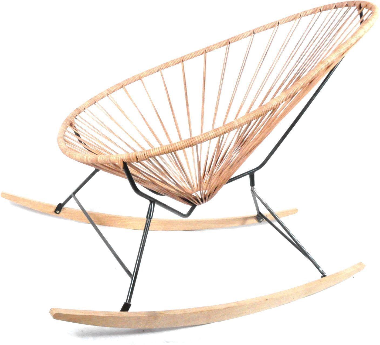 Acapulco Chair Wood Rocker Design Schaukelstuhl Boqa Kleine Fabriek