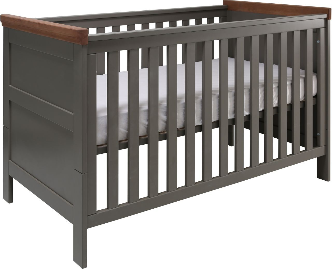 kidsmill babybett earth 60x120 cm grau fichte kleine fabriek. Black Bedroom Furniture Sets. Home Design Ideas