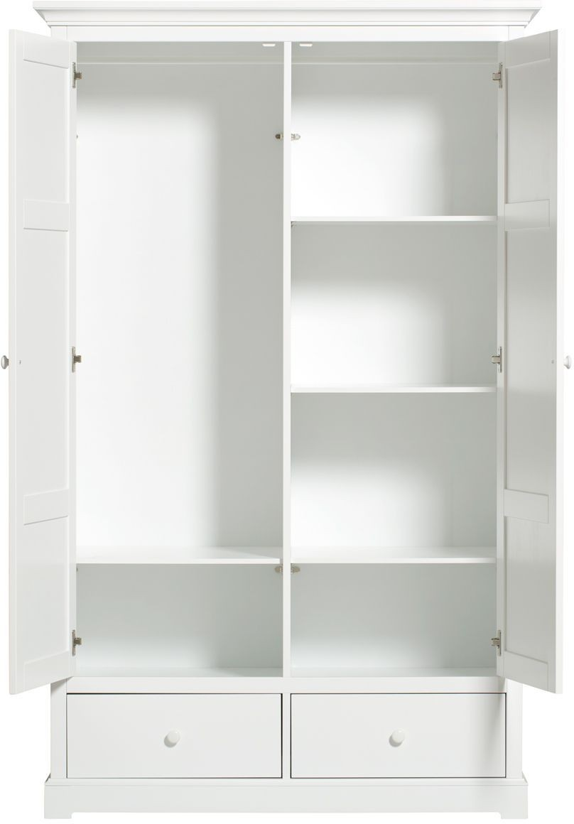 Oliver Furniture Kleiderschrank Seaside 2 Türig Weiß