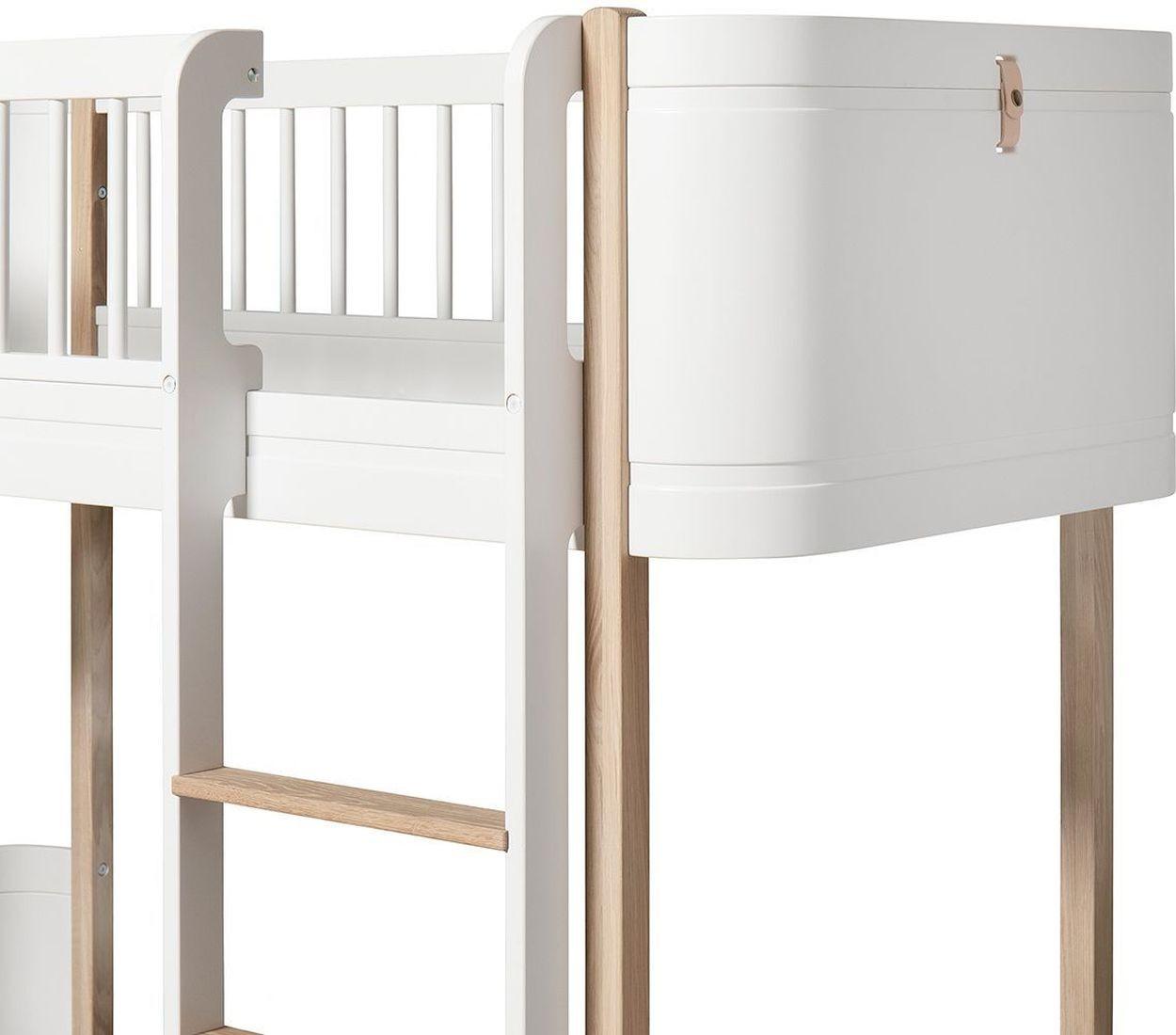 ... Oliver Furniture Wood Mini+ Halbhohes Hochbett Weiß/Eiche Detail    Kleine Fabriek ...