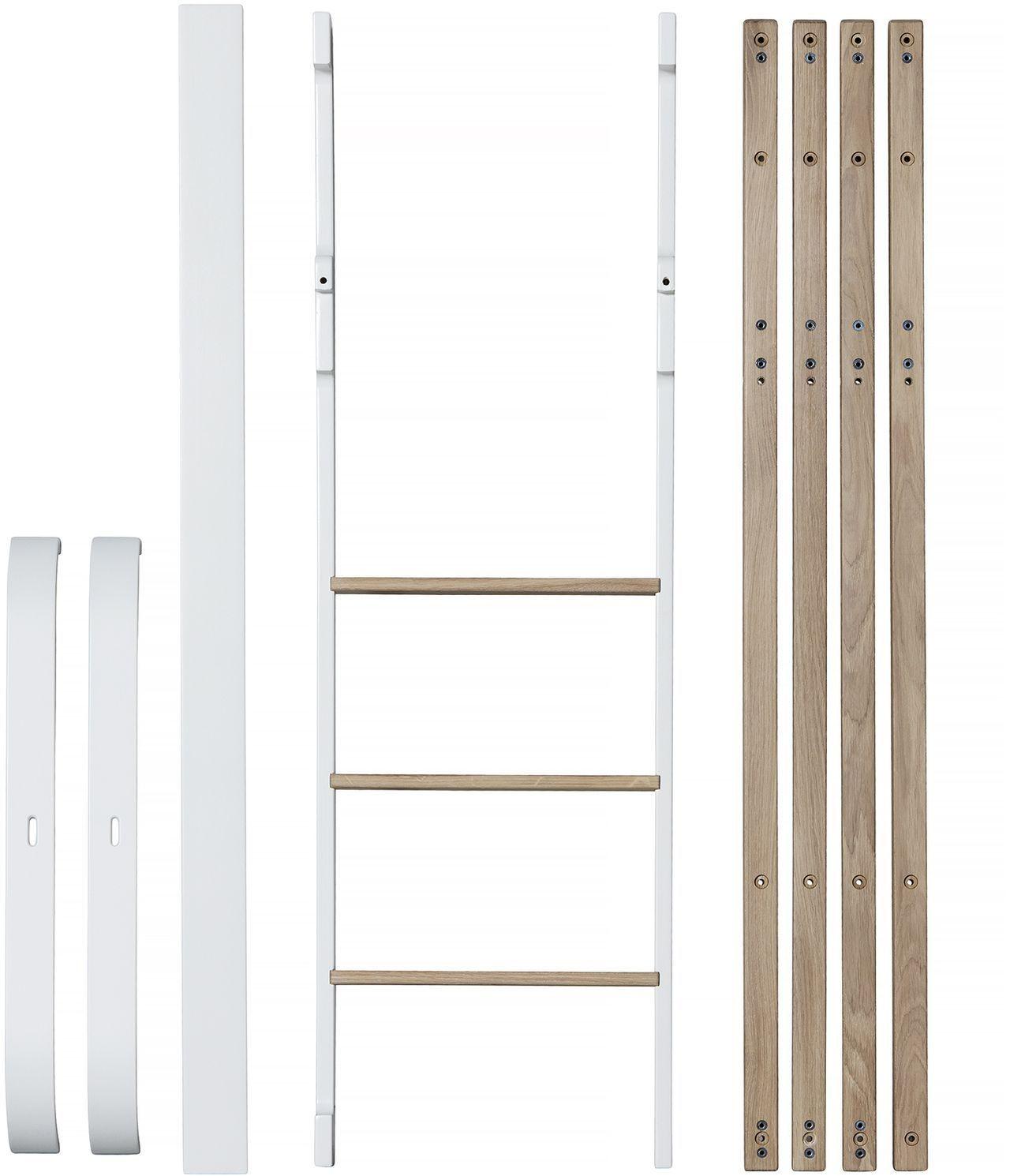 Oliver Furniture Umbauset Wood Mini+ Zum Halbhohen Hochbett Weiß/Eiche    Kleine Fabriek