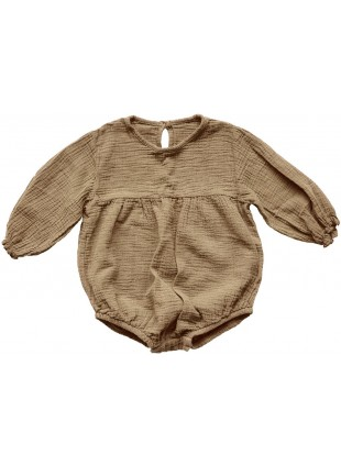 The Simple Folk Baby-Romper Musselin Meadow Camel