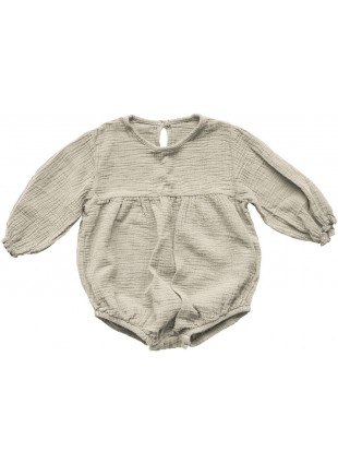 The Simple Folk Baby-Romper Musselin Meadow Ecru