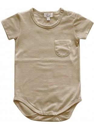The Simple Folk Kurzarm Baby-Body Pocket Sand