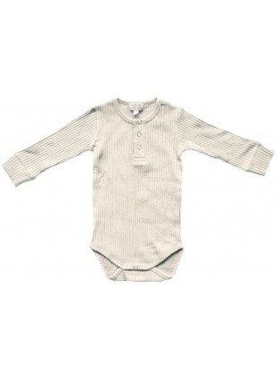 The Simple Folk Langarm Baby-Body Ribbed Ecru