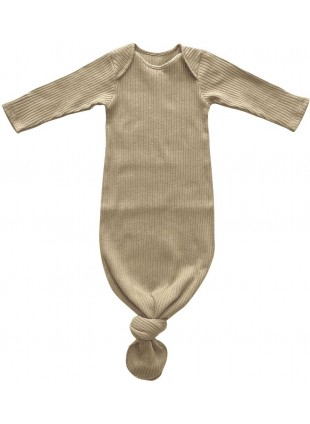 The Simple Folk Sommer Baby-Schlafsack Ribbed Sand 0-3 Monate
