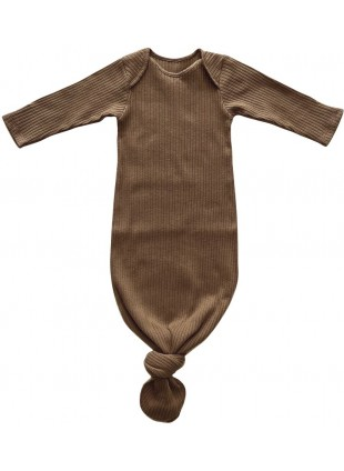 The Simple Folk Sommer Baby-Schlafsack Ribbed Walnut 0-3 Monate