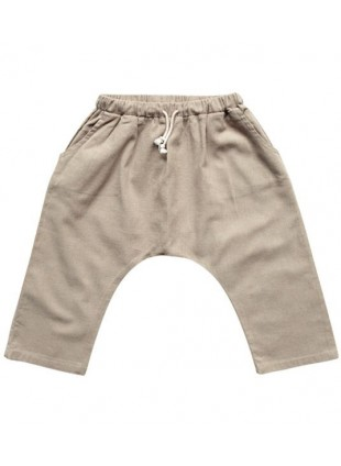 The Simple Folk Baby-Hose Leinen Oatmeal