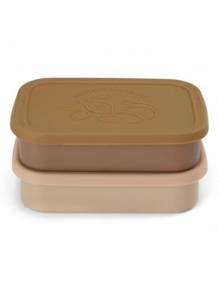 Konges Sløjd Edelstahl Lunchbox Frühstücksbox Set Rosa